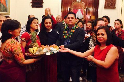 नेपाली राजदुतावासमा भब्यताका साथ देउसी भैलो कार्यक्रम सम्पन्न