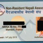 एन आर एन फ्रान्सले ले चाडैनै सदस्यता कार्ड वितरण गर्ने
