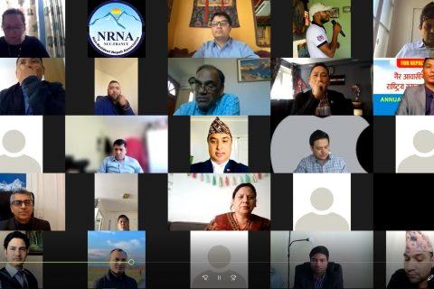 बार्षिक साधारण सभा गैर आवासीय नेपाली संघ राष्ट्रिय समन्वय परिषद फ्रान्स